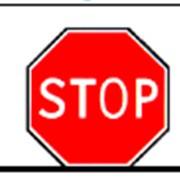 Дорожный знак Движение без остановки запрещено фото