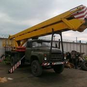 Услуги автовышки АГП-22 фото