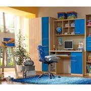 Детская комната Кари униколор синий фото