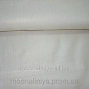 Ткань льняная ( белая с золотистым напылением)