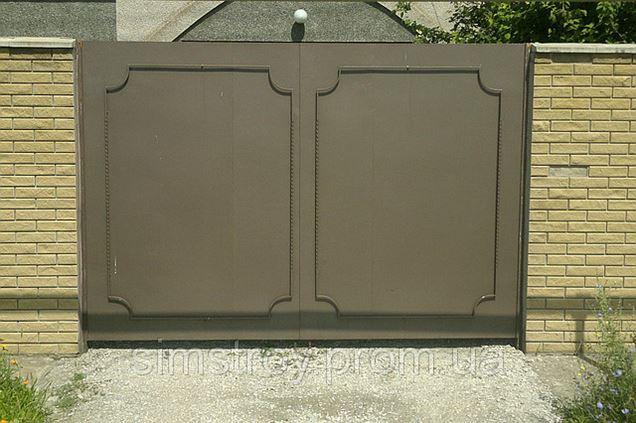 Ворота из листового металла