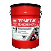 Герметик бутил-каучуковый технониколь №45белый, ведро 16кг фото