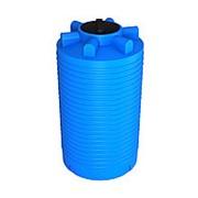 Емкость 1000 литров, вертикальная, цвет голубой фото