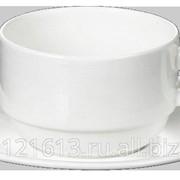 Чайная пара 220 мл штабелир. Wilmax блюдце 996099 /6/36/ фото