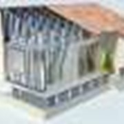 Каркас дома, дачи, бани из оцинкованных профилей фото