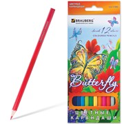 Карандаши цветные BRAUBERG Butterfly фото