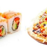 Доставка суши и пиццы фото