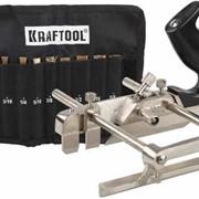 Рубанок KRAFTOOL MULTI метал., модель A52, 210мм, в комплекте 9 ножей. Артикул: 1-18541-H9 фото