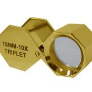 Лупа золот.цвета 10х, 18 мм (шестигранная) фото
