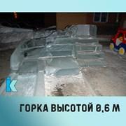 Изготовление ледяной горки фото