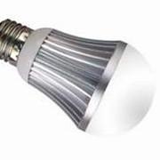 Светодиодная лампа ЛОН 5 Вт 220° фото