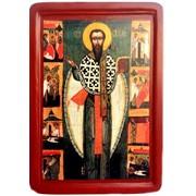 Икона святого Василия Великого (копия древней украинской иконы XVI ст.) фото