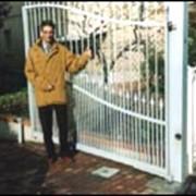 Ворота распашные фото