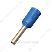 Наконечник-гильза Е2508 2, 5мм2 с изолированным фланцем синий ИЭК №991458 фото
