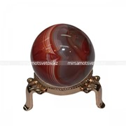 Сувенир Шар Красный Агат 210055 фото