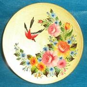 Декоративная тарелка с росписью фото