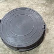 Люки полимер-песчаные для смотровых колодцев (лёгкие) фото