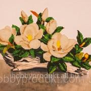 """Набор для вышивания бисером """"Белая орхидея"""" FLF-019 фото"""