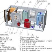 Модульный цех контейнерного типа холодного и горячего копчения рыбы с разовой загрузкой до 100 кг фото
