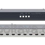 Коммутатор 2x1 и усилитель-распределитель 1:8 сигнала HDMI Kramer VM-28HDMI Код 00036