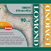Матовая бумага Lomond ЭКОНОМ 610мм 45м *50 ролик САПР/ГИС 90г фото