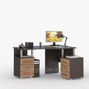 Стол письменный, компьютерный СОЛО-005 Корпус венге, фасад слива/слива фото