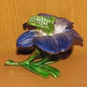 Шкатулка для ювелирных украшений Ларчик с бабочкой в подарочной коробке, арт. 1235 фото