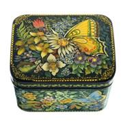 Лаковая миниатюра Шкатулка Бабочки Р. Парусник Махаон фото
