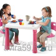Детский столик со стульчиками для девочек фото