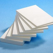 ПВХ листовой (вспененный) белый (молочный) толщиной4мм. фото