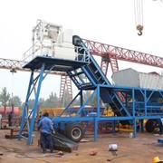 Мобильный бетонный завод YHZS 40 фото