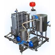 Установка для пастеризации и охлаждения жидких пищевых продуктов ПМР-02-ВТ с электрокотлом (пастеризатор) фото