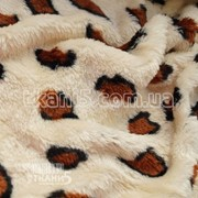 Ткань Махра (велсофт) леопард 5558
