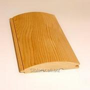Обшивка полукруглая - имитатор бревна сорт Прима A 28 х 140мм фото