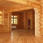 Строительство домов из дерева фотография