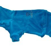 Костюм для собаки велюровый голубой фото