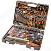 Универсальный набор инструментов: торцевые головки с аксессуарами, комбинированные ключи и отвертки Ombra Omt101S фото