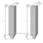Сваи забивные железобетонные цельные сплошного квадратного сечения для опор мостов марка С9-35В4…С9-35В7 фото