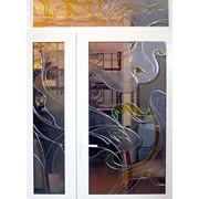 Витражи в окна, выполненные в различных витражных техниках фото
