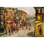 Картина Маслом Город фото