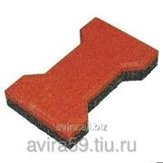 Резиновое покрытие для площадок Брусчатка Катушка, 20 мм фото