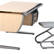 Комплект растущей мебели ДЭМИ: парта 120 см + подвесная тумба+стул (СУТ 11-03) фото