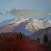 Горы Кавказа в закатном свете