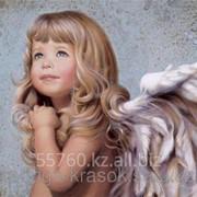 Картина по номерам Малышка-ангелочек фото