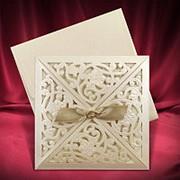 Элегантные приглашения на свадьбу, приглашение на свадьбу лазерная резка (арт. 5448) фото