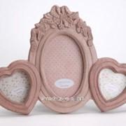 Фоторамка розовая фото