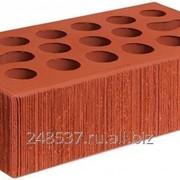 Кирпич облицовочный красный одинарный бархат М-150 Керма фото