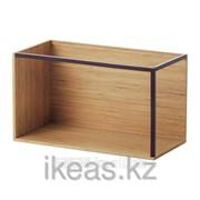 Модуль для хранения, бамбук, темно-красный ИКЕА фото