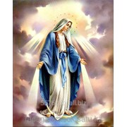 Картина сразами Пресвятая Дева Мария 45х55 см фото