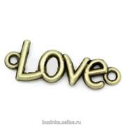 LOVE - Бронза, 35x13мм фото